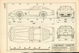 vintage corvette drawing chevrolet corvette c3 1973 blueprint download free blueprint for