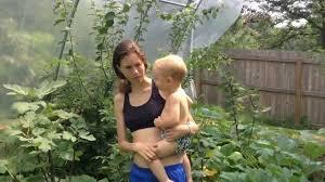 growing figs cucumbers and squash in backyard hoop house