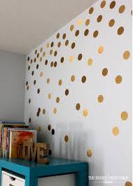 diy gold polka dot wall the homes i have made diy gold polka dot wall