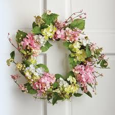 amazon com spring floral hydrangea door wreath multi home u0026 kitchen