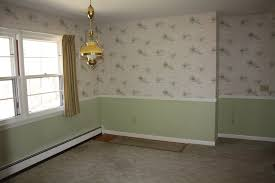 sophisticated dining room makeover find good in every day luckily only wallpaper above the chair rail