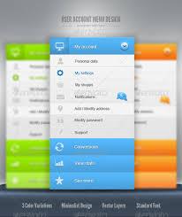website menu design user account menu design by 87scope graphicriver