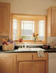 Kitchen Island With Trash Bin by Kitchen Bay Window Exterior Butcher Block Top Round Shade Pendant