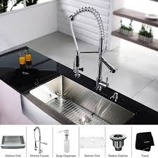 kitchen faucets with soap dispenser kraus 36 x 21 farmhouse kitchen sink with faucet and soap