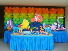 nemo baby shower easy centerpieces for finding nemo baby shower megan s baby