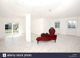 living room empty white column window antique old red bank bench stock photo living room empty white column window antique old red bank bench couch sofa love seat red showroom