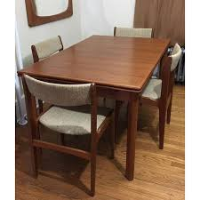 Century Dining Room Tables Furbo Mid Century Teak Expandable Dining Table Chairs