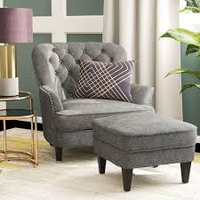 heywood armchair and ottoman u0026 reviews birch lane