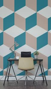 Interior Wallpaper Desings by Best 25 Blue Geometric Wallpaper Ideas On Pinterest Blue