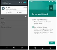 sd card android how to use sd card as storage on marshmallow the