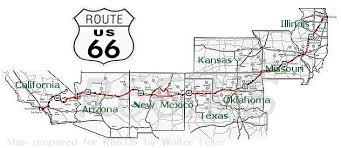 us route 66 arizona map map of route 66