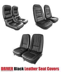 1968 corvette seats c3 corvette 1968 1982 driver black leather seat covers pair