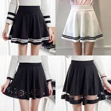 pleated skirt high waist pleated skirt skirt yv571 youvimi