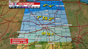 Indiana Road Conditions Map Snowy Start To Monday Around Central Indiana With Winter Weather