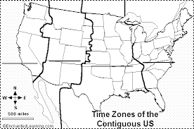 us map divided by time zones us time zones label me printout enchantedlearning