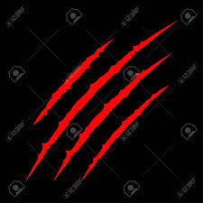 bloody claws scratch scrape track cat tiger scratches