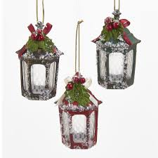 kurt s adler nyc j6039 green gold lantern ornament 3 assorted