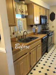 Vintage Galley Kitchen Kitchen Galley Kitchen Remodel To Open Concept Trash Cans