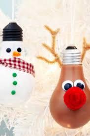 ornaments using light bulbs easy diy