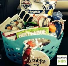 baseball gift basket diy baseball gift idea