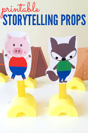 pigs printable storytelling puppets childhood101