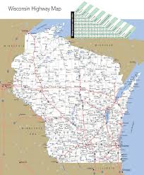 Interstate Map Of The United States by Large Detailed Map Of Wisconsin With Cities And Towns