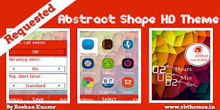 nokia c2 01 themes with tones abstract shapes live hd theme for nokia x2 00 x2 02 x2 05 x3 00