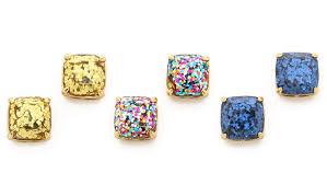 glitter stud earrings thanks i made it diy inspiration kate spade glitter earrings