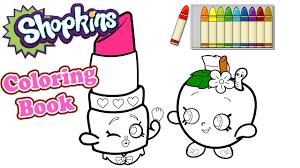shopkins coloring book アメリカで大人気 ショップキンズの塗り絵