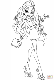 monster high wydowna spider coloring page free printable