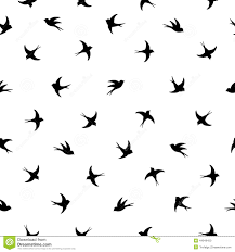 flying birds silhouette pattern stock vector image 44949450