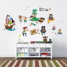 chambre garcon pirate decoration stickers chambre bébé enfant garçon thème