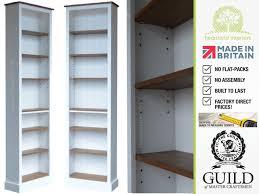 solid wood bookcase 7ft x 2ft adjustable display shelving unit