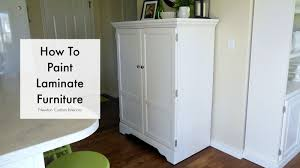 How To Paint A Bookcase White by How To Paint Laminate Furniture Youtube
