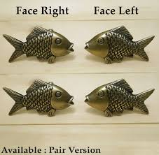 lot of 2 pairs antique small mouth bass fish artsofbrass