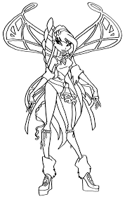 winx club believix coloring page free download