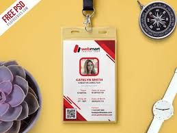 photo id card template free psd download download psd