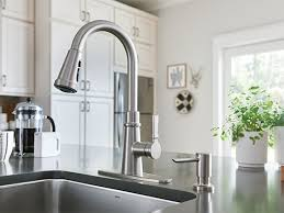 pulldown kitchen faucet win a moen tullis pulldown kitchen faucet for