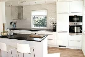 plan de travail cuisine blanc brillant cuisine blanc brillant et plan de travail noir cethosia me