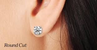 diamond stud sizes 1 kt diamond earrings diamond studs in all shapes and sizes at the