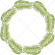 palm fronds for palm sunday palm circle palm sunday clipart