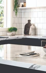 kaboodle kitchen designs nougat truffle kitchen with calcutta gloss benchtops kaboodle