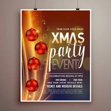 free flyer designs christmas holidays party flyer design template with light effect