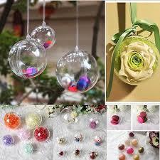 tree ornament favor gift box transparent