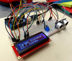 lesson 20 arduino lcd project for measuring distance with