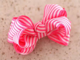 how to make hair bow step by step how to make a stripe hair bow free janecrafts