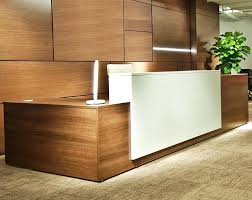 L Shape Reception Desk L Shaped Salon Reception Desk White Color Modern Shape Be