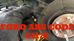 abs light on ford f150 2003 2006 ford expedition lincoln navigator abs code c1175 youtube