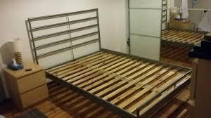 Heimdal Bed Frame Ikea Heimdal Bed Frame Mid Beam And Wooden Slats In