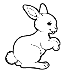 Rabbit Coloring Pages Standing Coloringstar Rabbit Colouring Page